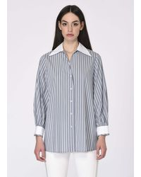 Roman - Long Sleeve Stripped Shirt - Lyst