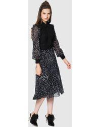 Roman - Lace Bodice Midi Dress - Lyst