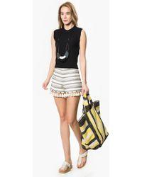 Roman Tassel Shorts - White