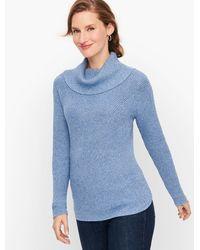 Talbots - Cotton Modal Cowlneck Sweater - Lyst