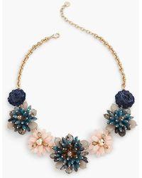 Talbots - Denim-inspired Flower Necklace - Lyst