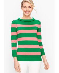 Talbots Sabrina Stripe Jumper - Green