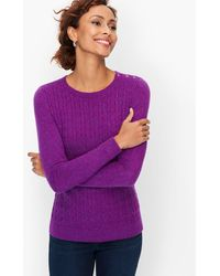 Talbots - Supersoft Cableknit Sweater - Lyst