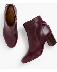 Talbots Lilia Block-heel Ankle Boots - Purple