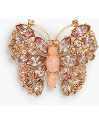 Talbots Crystal Butterfly Brooch - Metallic