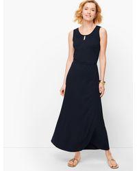 Talbots Jersey Maxi Dress - Blue