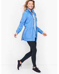 Talbots Cinch Waist Water Resistant Jacket - Blue