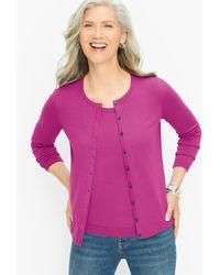 Talbots Charming Cardigan Sweater - Purple
