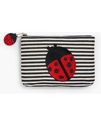 Talbots - O, The Oprah Magazine Collection For Stripe Yarn-dyed Clutch - Lyst