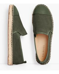 Talbots Izzy Espadrille Flats - Green