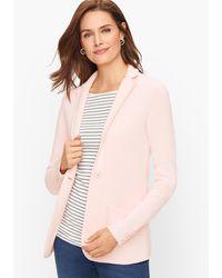 Talbots Notched Collar Jumper Blazer - Pink
