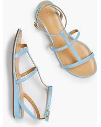 ac5272b65ad Talbots - Daisy Gladiator Micro-wedge Sandals - Lyst