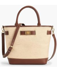 Talbots - Leather-trim Tote Bag - Paperstraw - Lyst