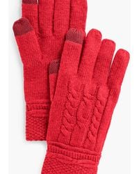 Talbots Cable Stitch Touch Gloves - Blue