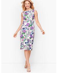 Talbots Sateen Botanical Gardens Sheath Dress - Multicolour