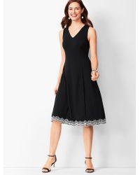 356d326e3b177 Talbots Luxe Knit Sleeveless Sheath Dress in Black - Lyst