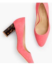 Talbots Kelsey Block-heel Court Shoes - Pink
