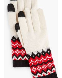 Talbots Chalet Fair Isle Touch Gloves - Red