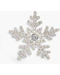 Talbots Sterling Silver Snowflake Brooch - Metallic