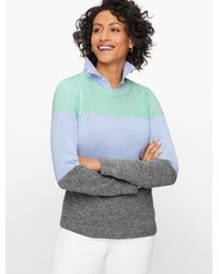Talbots - Marled Colorblock Sweater - Lyst