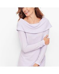 Talbots Brushed Mélange Ruched Sleeve Top - Multicolour