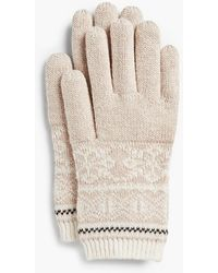 Talbots - Reindeer Fair Isle Gloves - Lyst