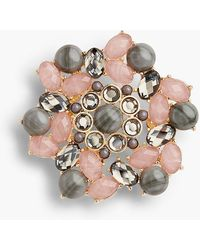 Talbots - Pink & Neutral Brooch - Lyst