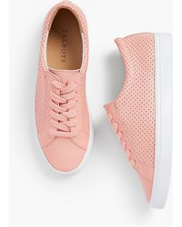 Talbots - Perforated Leather Trainers - Lyst