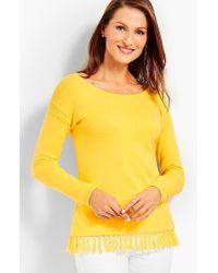 Talbots - Tasseled Sweater - Lyst