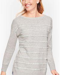 Talbots Tinsel Stripe Jumper - Gray