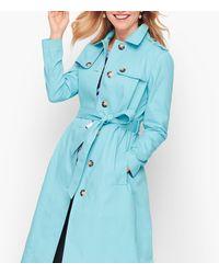 Talbots Classic Trench Coat - Blue