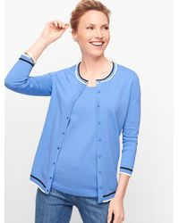 Talbots Charming Cardigan Jumper - Blue