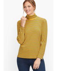 Talbots Ribbed Stripe Turtleneck - Yellow