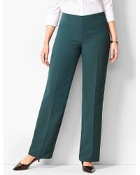 Talbots - Seasonless Crepe Wide-leg Trousers - Curvy Fit - Lyst