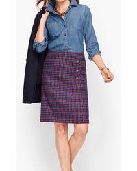 Talbots Faux Wrap A-line Skirt - Blue