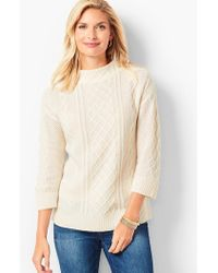 Talbots - Cashmere Cable Mockneck Sweater - Lyst