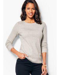 Talbots Long-sleeve Crewneck T-shirt - Grey