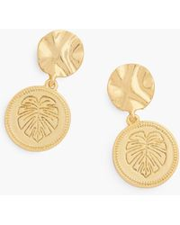 Talbots Paradise Coin Earrings - Metallic
