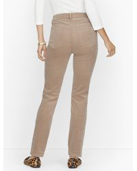 Talbots Stretch Corduroy Straight Leg Pants - Multicolor