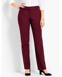 Talbots - Polished Twill Straight-leg Pant - Curvy Fit - Lyst