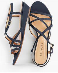 Talbots - Capri Leather Sandals - Lyst