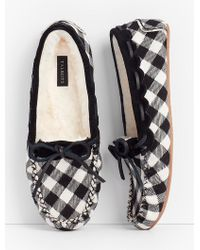Talbots - Ruby Moccasin Slippers - Buffalo Plaid - Lyst