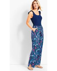 Talbots - Crinkle-cotton Sailing Boats Beach Pant - Lyst
