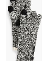 Talbots Marled Winter Touch Gloves - Black