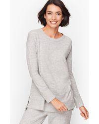 Talbots Brushed Mélange Pullover - Grey
