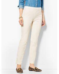 Talbots - Chatham Ankle Pants - Ivory Button Hem - Lyst
