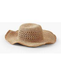 Talbots - Paper Straw Wide-brim Sun Hat - Lyst