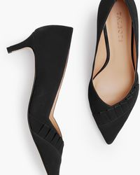 Talbots Erica Pleated Court Shoes - Black