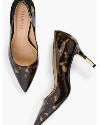 Talbots Erica Gold-tipped Heel Court Shoes Tortoise - Multicolour