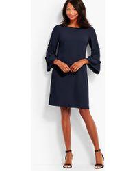 Talbots Crepe Shift Dress - Blue